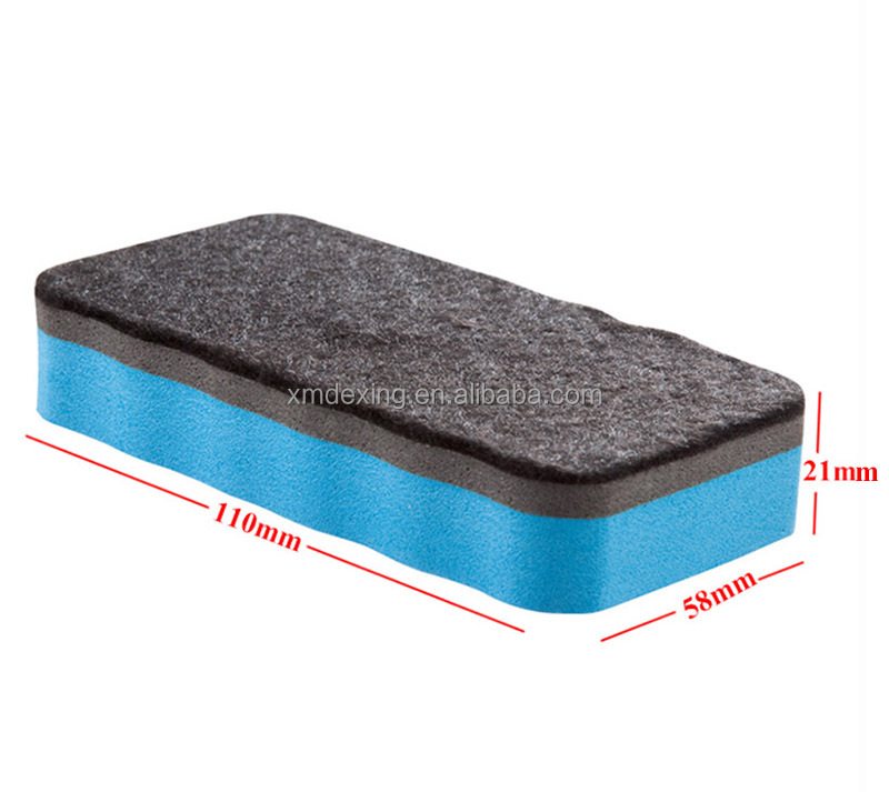 Green, Red, Yellow, Blue, Purple Magnetic Whiteboard Dry Erasers, Whiteboard Erasers for Classroom, Home and Office