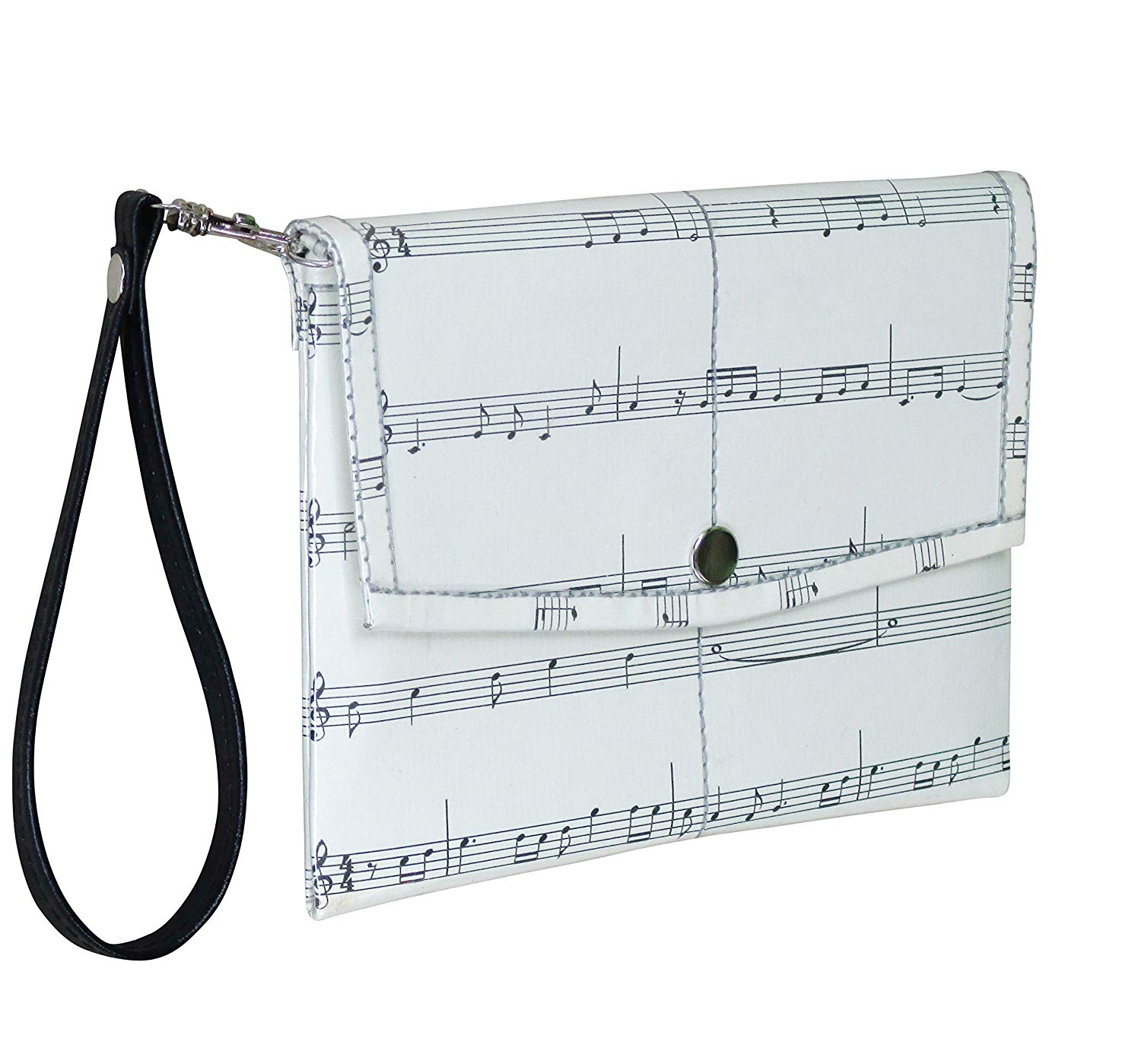 Get Quotations · Small snap wristlet for music lovers - FREE SHIPPING -  upcycled enthusiasts musician musical note scores