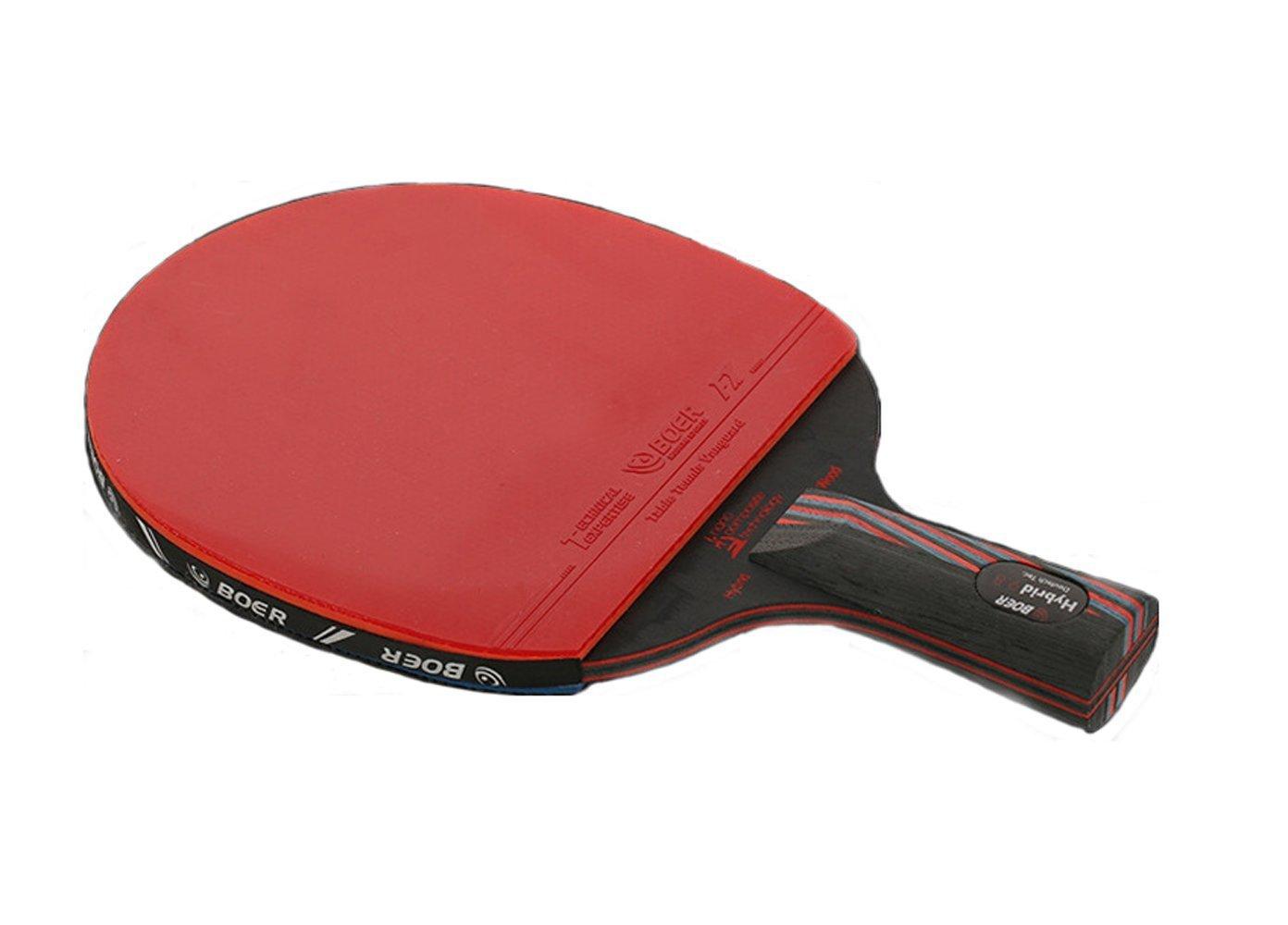 Boer S series table tennis racket, long handle and short handle two table tennis rackets nano carbon king table tennis racket