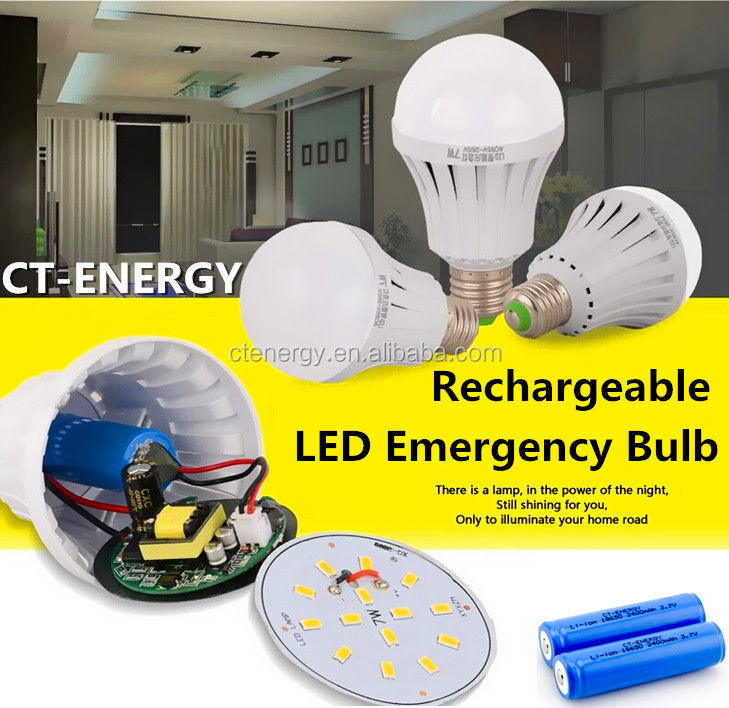 Led Smart Hand Touch Emergency Bulb Small Battery Operated Led ...