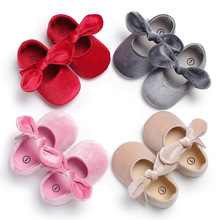 Brand New Infant Baby Soft Sole bow Shoes Newborn Girls Toddler Crib Moccasin Prewalker Velvet Bow First Walkers Shoes