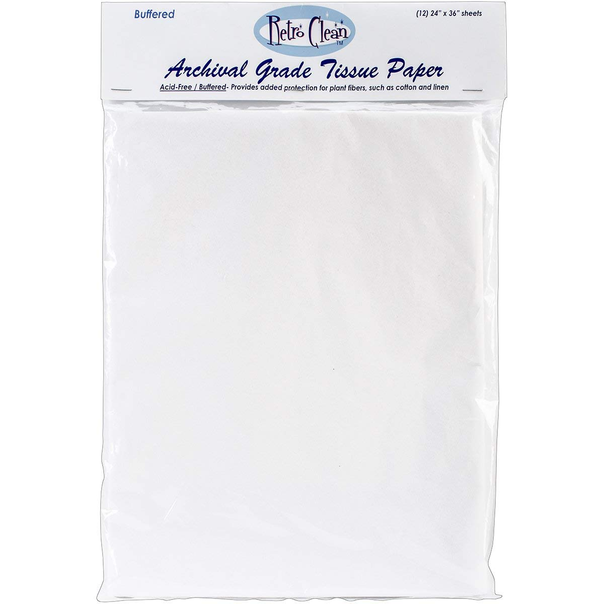 RIOLIS Retro Clean Archival Grade Tissue Paper, Buffered, 24-Inch by 36-Inch, 12 sheets