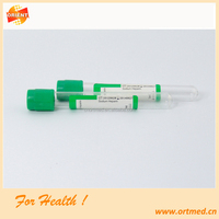 disposable blood draw tube lithium heparin