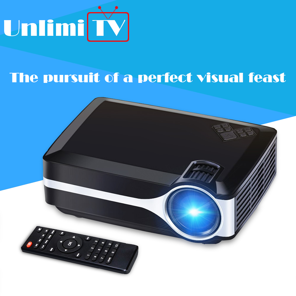 Unlimitv mini lcd projector hd led multimedia home tv beamer
