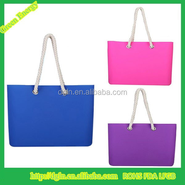 New Style Silicone Ladies Fancy Beach Bags Fashion Hand Bag - Buy ...