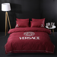 luxury designs quilt bedding set,famous brand 4pcs bedding set