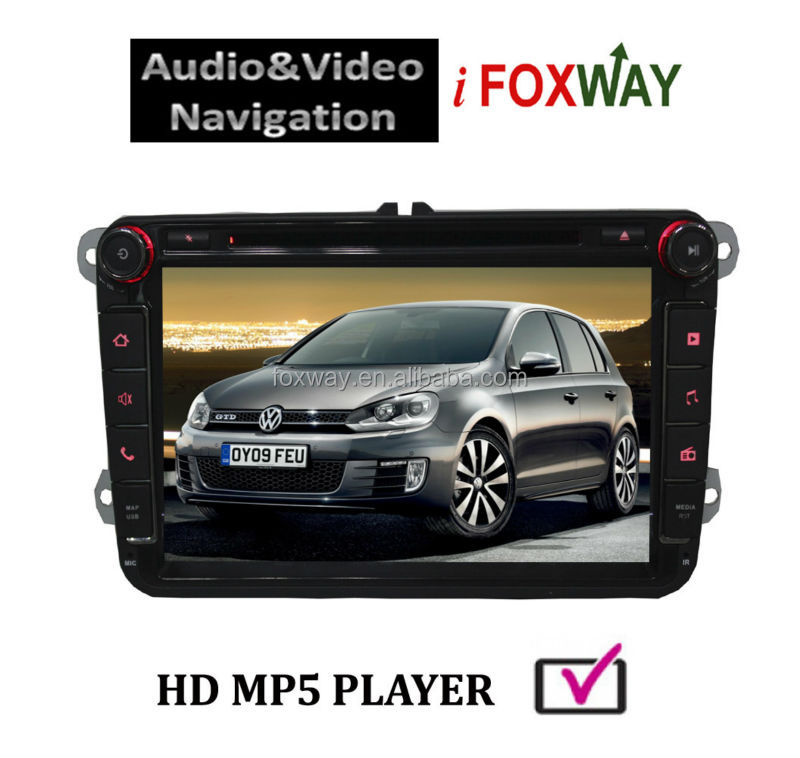 In-dash Double Din Bluetooth/IPOD/USB Volkswagen DVD GPS Car Multimedia