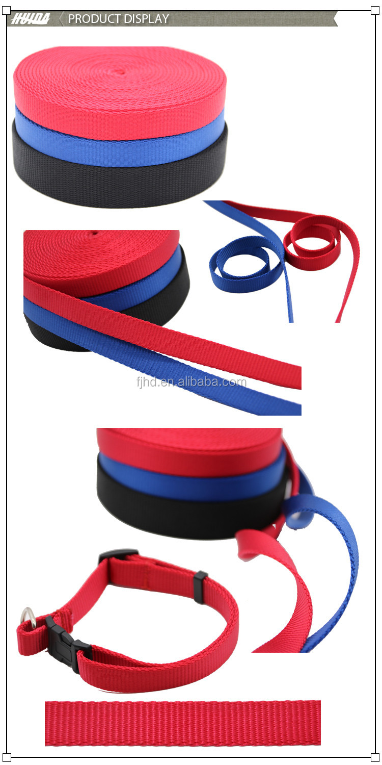 Colorful Heat-Transferring Nylon Webbing Packing Pet Belt For Bags