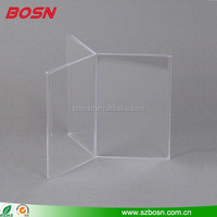 Acrylic Clear 6 Panel Table Tent for Graphics, Sign Holders