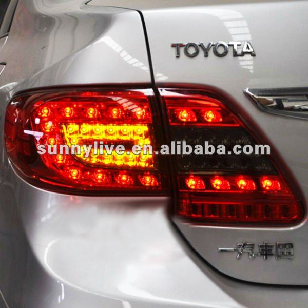 For TOYOTA Corolla Altis LED Tail light 2011-2012 Year Red Black Color YZV1
