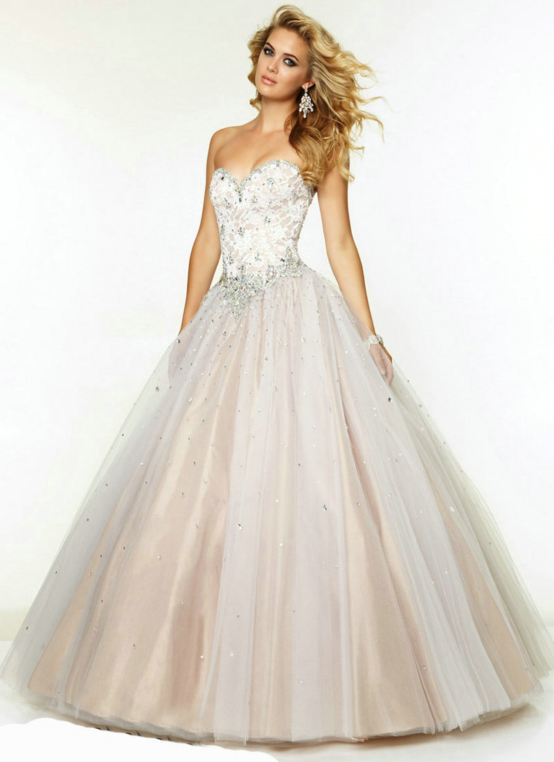6f8dd23401fb4 Get Quotations · Ball Gown Prom Dresses Corset Back Sweetheart Formal Prom  Dress Lace Tulle Floor Length 2015 Dress