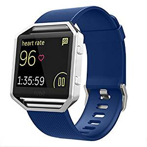Fitbit Blaze Accessories Classic Band Small, Gersymi Tech Soft Silicone Replacement Sport Strap Band with Quick Release for Fitbit Blaze Smart Watch(Dark navy band small)