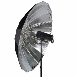 185cm Studio Photography Video studio photographic equipment black and silver reflector umbrella