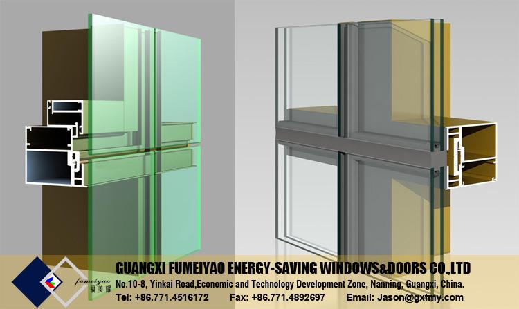 Curtain Wall Framing : Aluminum frame glass curtain wall price