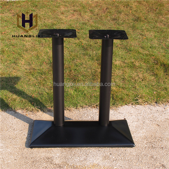 Factory Price Table Base,Wrought Iron Metal Table Legs,Double Column ...