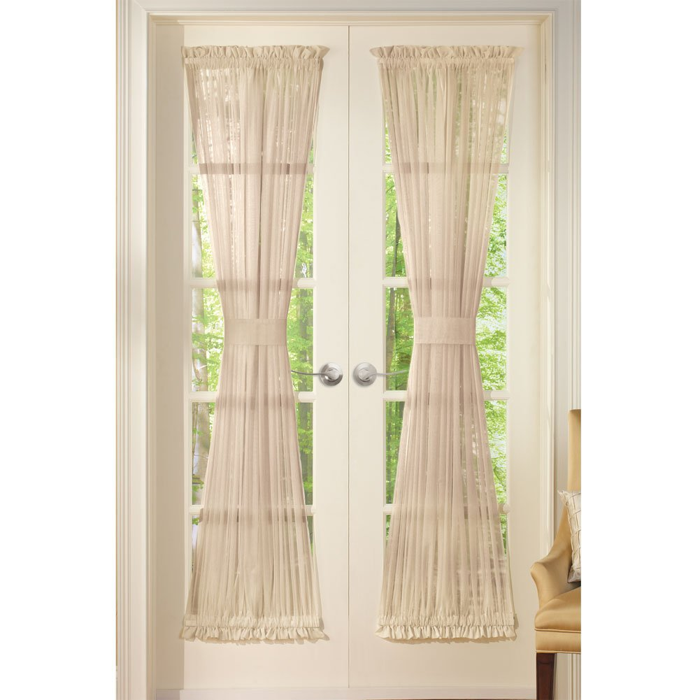 panel amazon silver dp home com sheer solid piece x inch curtains comfort kitchen window elegant