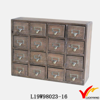 Spice Drawers Medical Country Vintage Reclaimed Wood Drawer Cabinet