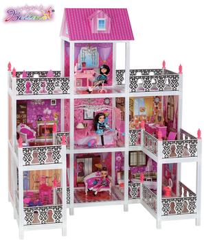 Bettina Hotselling Large Diy Fashion Plastic Dolls House With 9
