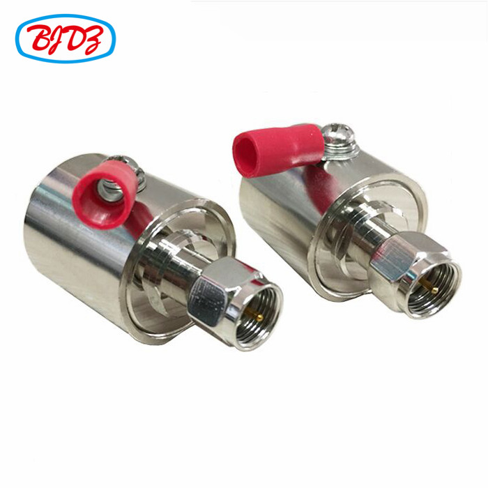 F Male To F Female Lighting Protection Gas Tube Surge Arrester surge lightning arrester