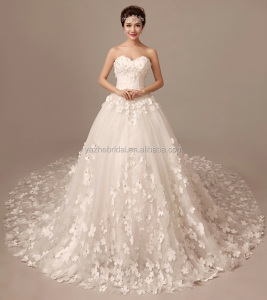 3D Flower A Line China Cheap Bride's Wedding Dress