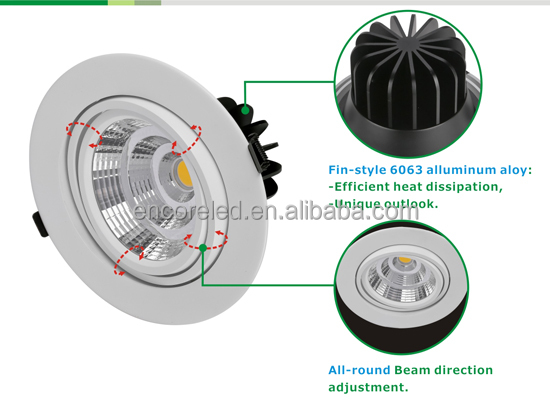 Round 38w 30w 20w Led Down Light Suspending Led Downlight Fixture ...