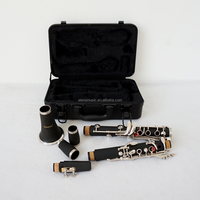 Hot Sale Bb Tone 17 Keys Black ABS Clarinet wholesale price