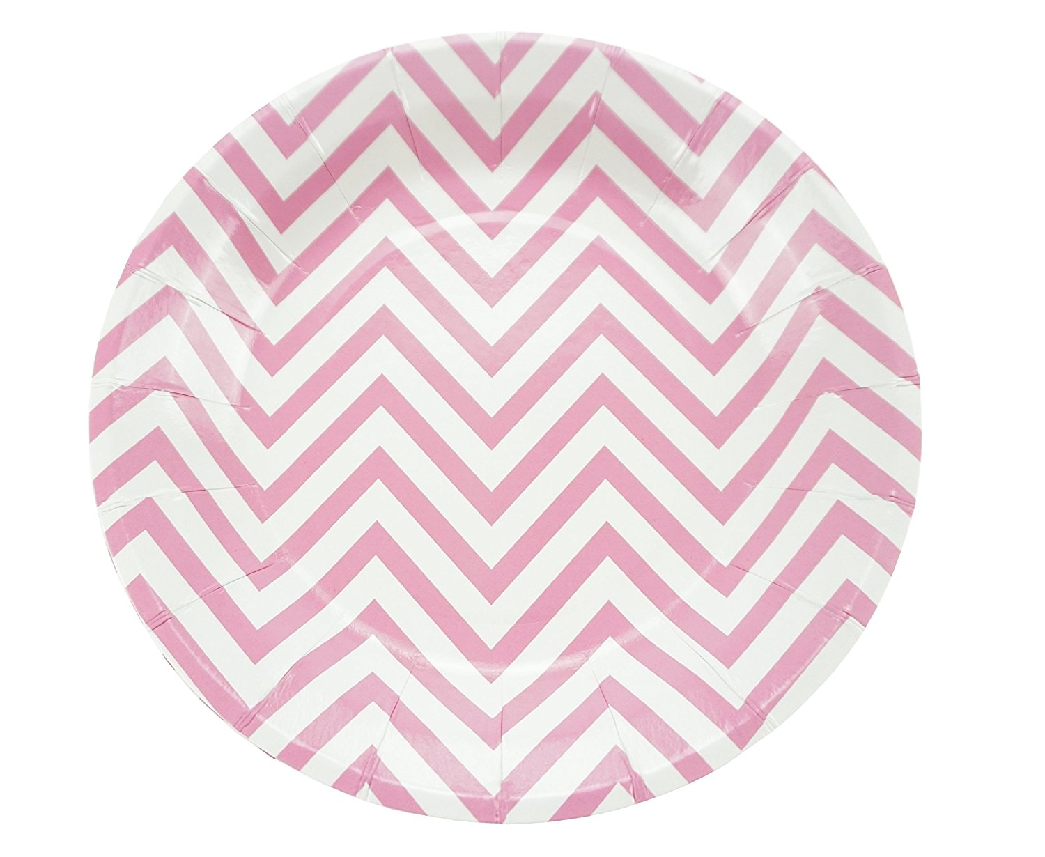 Get Quotations · Bilipala 9 Inch Pink Chevron Stripe Disposable Paper Party Dessert Plates Pack of 12  sc 1 st  Alibaba : pink disposable plates - pezcame.com