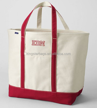 Open Top Stand Upright Extra Large Heavy Natural Canvas Tote Bag