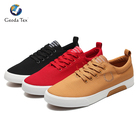 Geoda Free Sample EVA Comfortable Lace-Up Men Canvas Shoes Casual
