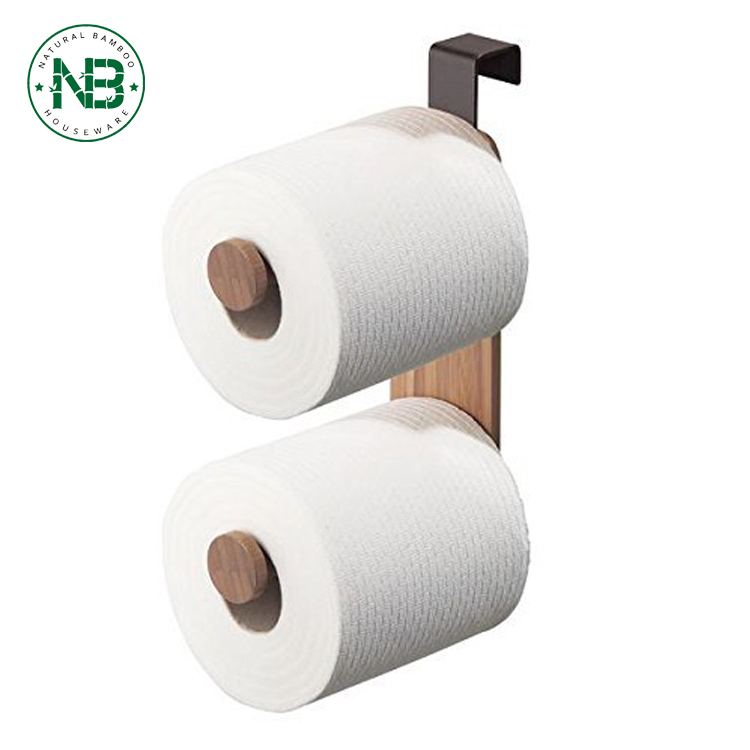 Toilet Paper Holder For Bathroom Storage,Over The Tank - Bamboo ...