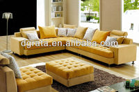 2013 Villatic style youthful color fabric sofa sets is fabric and solid wood frame to be finished for the living house furniture