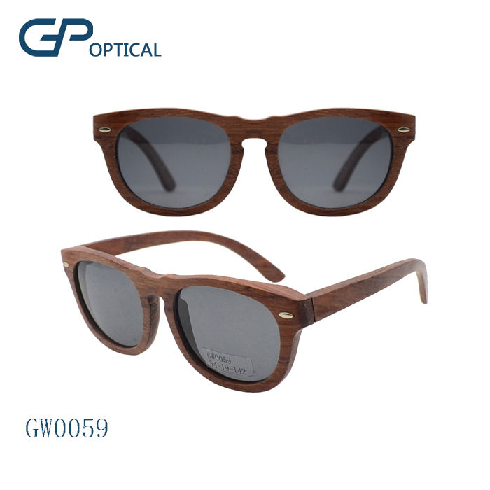 GW0059 Professional custom logo brand polarized lens wooden sunglasses