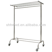 Stainless steel clothes rack trolley for laundry