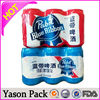YASON stand up unprinted coffee bag stick with labels to save printing cost and reduce stocksshrink wrap bottle labels in sheet
