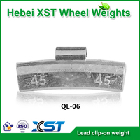 Lead clip-on wheel weight alloy rims