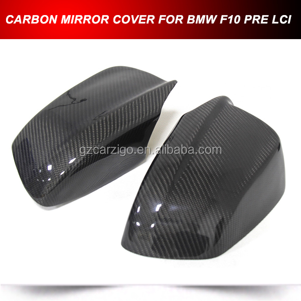 CARBON ADD ON REAR VIEW MIRROR COVER WING CAPS FOR BMW F10 PRE LCI 2010-2013