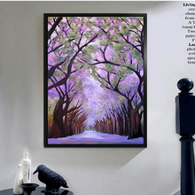 Popular modern flower tree handmade oil painting on canvas wall art for living room decoration