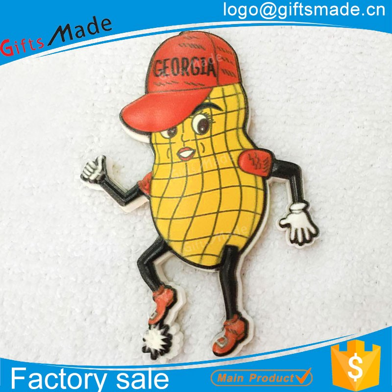 customized hot sale 3d soft pvc souvenir fridge magnet