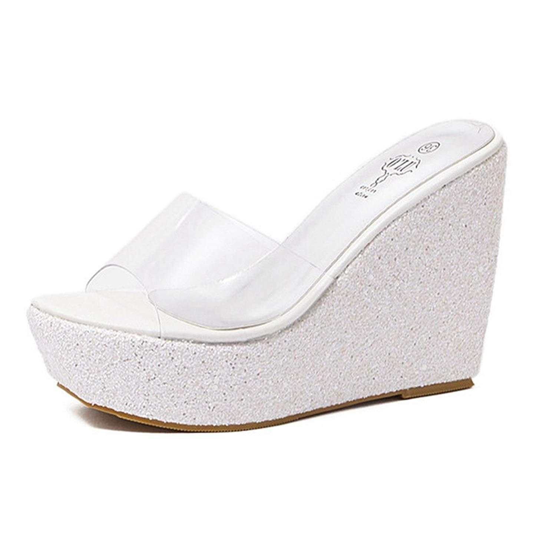 53cb14c9a1c Get Quotations · CYBLING Womens Bling Platform Slide Sandals Anti-Slip  Outdoor Summer Beach Wedge Sandals