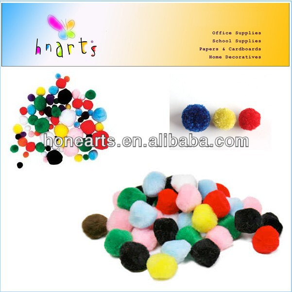 handcraft pompoms balls/beads educational toy