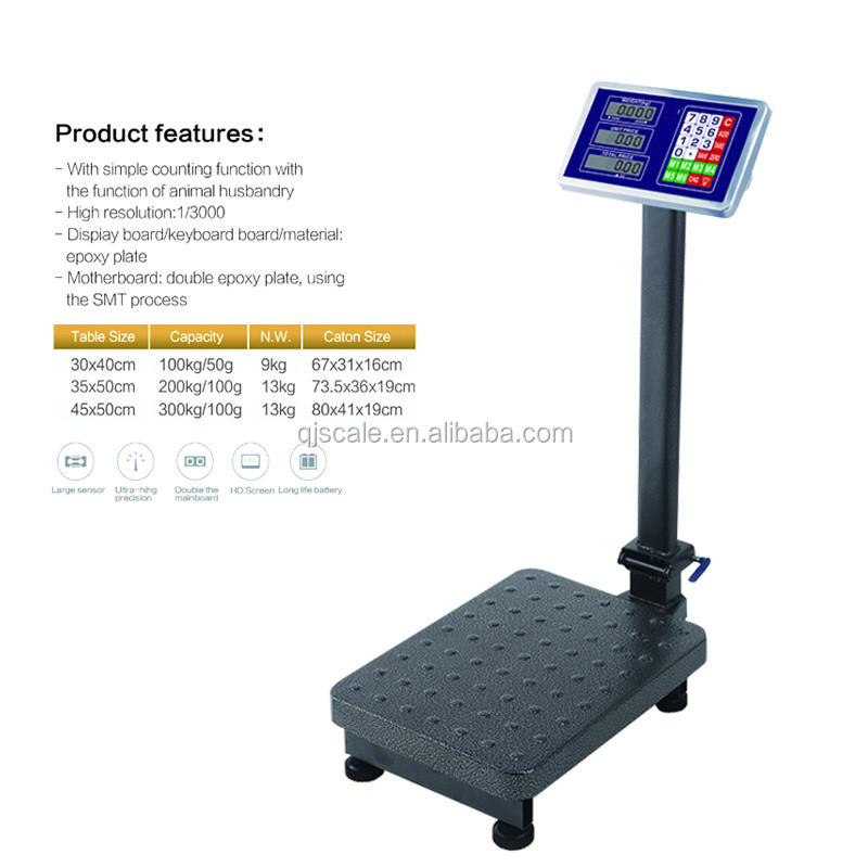 300kg digital bench type of platform weight scale