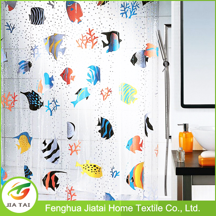 Fish Peva Clear Plastic Shower Curtain New Design Fashion Bath Shower  Curtain   Buy Peva Clear Plastic Shower Curtain,Fashion Shower Curtain,Bath  Shower ...