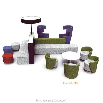 Foshan Factory Customized Modern Loose Furniture Public Seating Sofa Bench  For India Market