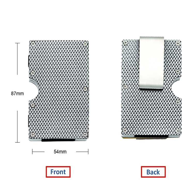 New arrivals waterproof resistant metallic business card holder case carbon fiber metal slim rfid business card holder