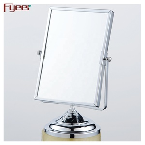 Square Magnifying Makeup Mirror Small Brass Table Mirror