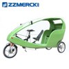 Open 3 Wheel Taxi Electric Bike 2 Passengers Tricycle with CE Approved