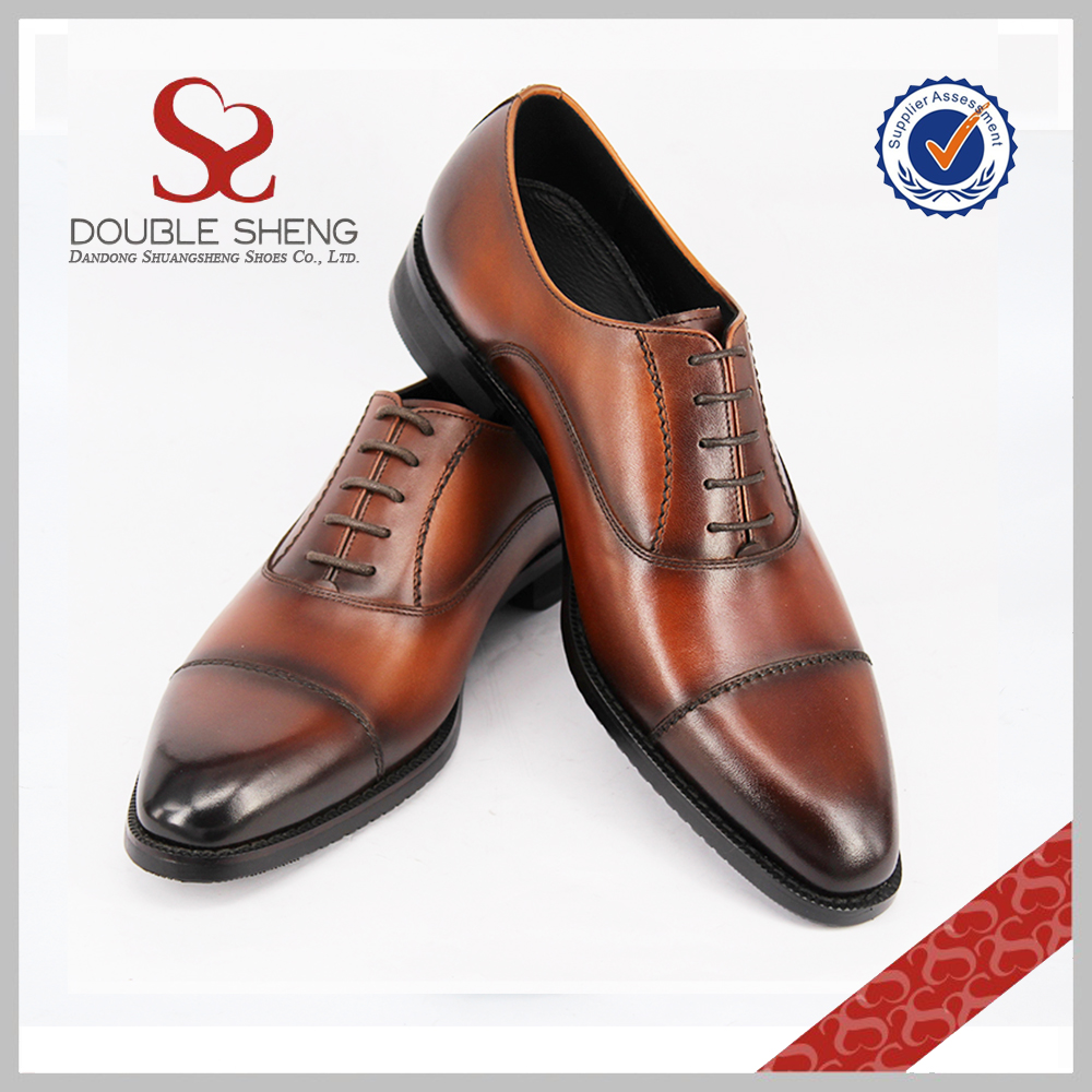 zapatos fashionable leather men's Assurance hombre shoes genuine oxford Trade qw16Zf