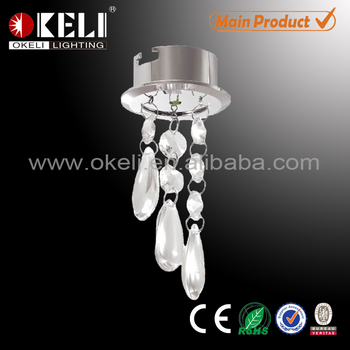 Water-drop Shape Crystal Light Ceiling Light With Crystal Pendant ...