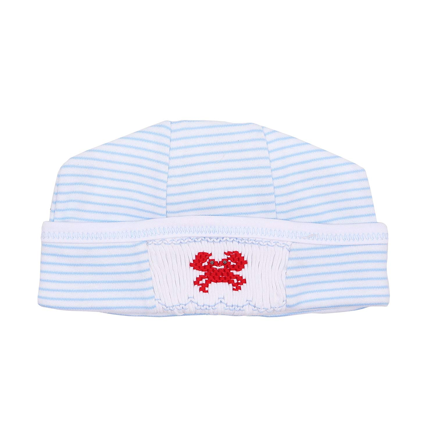 a60592bde1d Get Quotations · Magnolia Baby Baby Boy Classic Crab Smocked Hat Blue