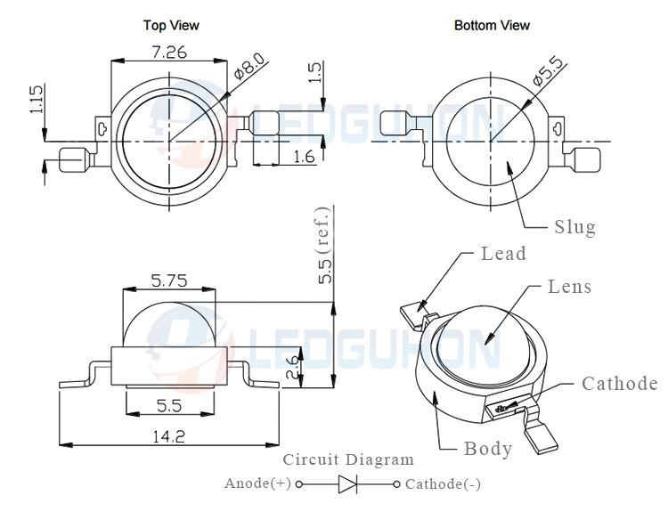 Simple Burglar Alarm Circuit likewise NSI45030AT1G ONSemiconductor pdf besides High Power 1W 3W 850NM Infrared 60533600147 furthermore Sensor Block additionally Arduinotronics blogspot. on led anode cathode ir